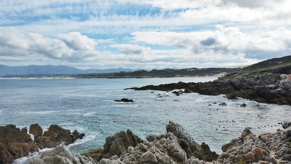 Walker Bay coastline De Kelders Gansbaai South Africa