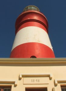 Cape Agulhas Lighthouse at the southernmost point of South Africa