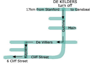 Map from R43 De Kelders to Cliff Lodge Guesthouse