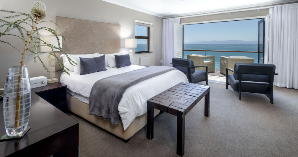 North Room accommodation overlooking Walker Bay in De Kelders