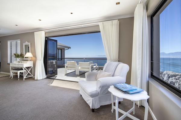 Views of Walker Bay from the Ocean Suite at Cliff Lodge De Kelders